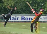 Shahdab Ghori gets a sharp bouncer