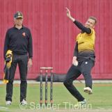 Tom Heggelman bowling