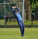 ...but Stef Myburgh takes a very fine catch