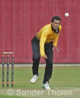 Sohail Bhatti bowling for Excelsior