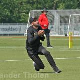 ...and Navjit Singh takes a fine running catch