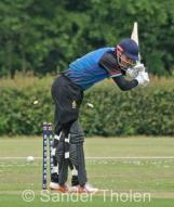 Ben Cooper is bowled without offering a shot