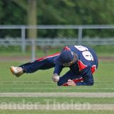 ...and Tom de Grooth takes a fine catch at mid on