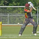 Taruwar Kohli plays from the backfoot