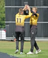 ...and Heggelman and van Troost celebrate the catch