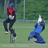 Nadeem tries a fancy shot