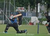 Van den Burg plays to leg