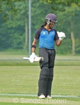 Vikram Singh has a timid celebration of his maiden hundred in the top flight
