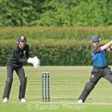 Lees plays his favourite square drive