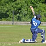 Viv Kingma goes for the runs