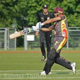 Wahid Masood is a bit early on the shot