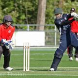 Sharijullah Mansoor cuts through point