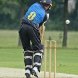 Turmaine gets the ball high on the bat...