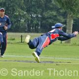 ...and is well caught by Nic Smit