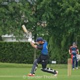 Cooper hits a six over cow