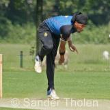 Vikram Singh bowling for VRA