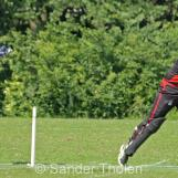 A very difficult chance for keeper Ahmed