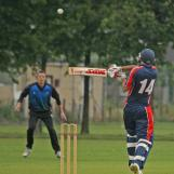 Nic Smit swings at a high one