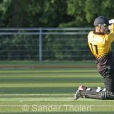 Tom Heggelman is bowled by Coster