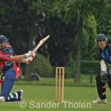 Smit finishes the match with a boundary