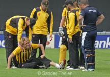 Hidde Overdijk has twisted his knee but fortunately can play on