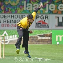 Ali Ahmad bowling for HCC