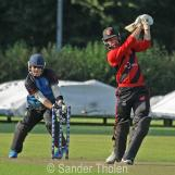Mullet is bowled by Ben Cooper