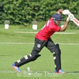 Usman Saleem plays a cover drive