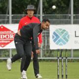 Farshad Khan bowling