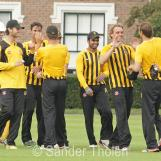 The HCC-players celebrate Ingram's departure