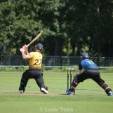 Lenert van Wyk hits a six