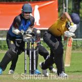 Sanjit Shankar is bowled by Ben Cooper