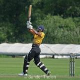 Bhatti hits a straight six