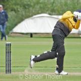 Shankar plays a straight drive