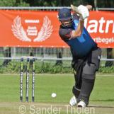 Emile van den Burg plays a cover drive