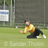 ...but David Woutersen can't hold on to the catch .