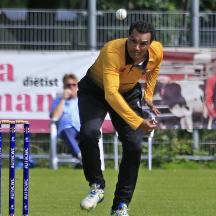 Sohail Bhatti opening the bowling