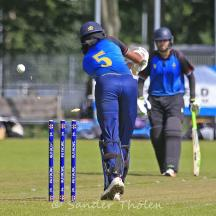Vikram Singh is bowled by Bhatti