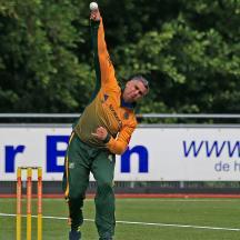 Sulaiman Tariq bowling for Punjab