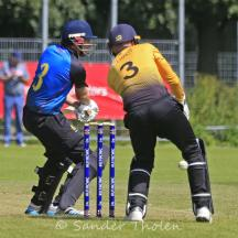 Szwarczynski chops it past the stumps
