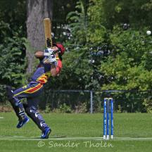 Tuseef Ahmed plays at a bouncer