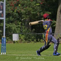 Tuseef Ahmed swings and edges