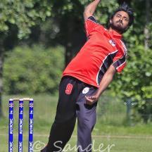 Devanschu Arya bowling