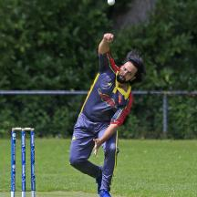 Tuseef Ahmed bowling for Dosti