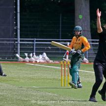 ...and bowler Ferdi Vink appeals successfully