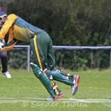 Teja Nidamanuru plays around his legs