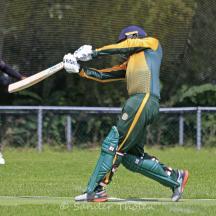 Nidamanuru hits a straight six