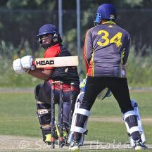 Ashan Malik is bowled by Hans