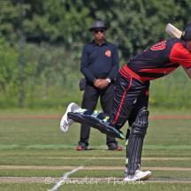 Schoonheim clips the ball for a boundary