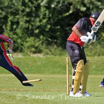 Latif is bowled by Ahmed Qasim